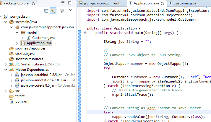 Jackson to convert Java Object to/from Json String » grokonez