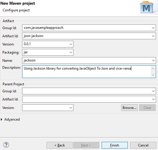 input json-jackson project info