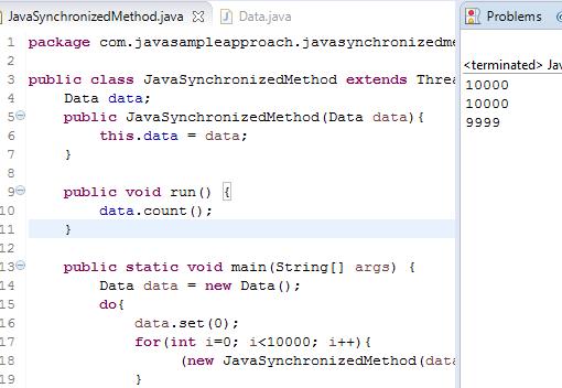 synchronized method problems