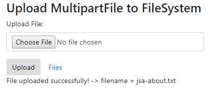 SpringBoot-Upload-Download-MultipartFile-Thymeleaf-Bootstrap4-upload-file-view