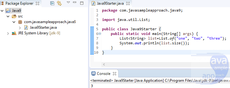 java9 starter - no syntax error