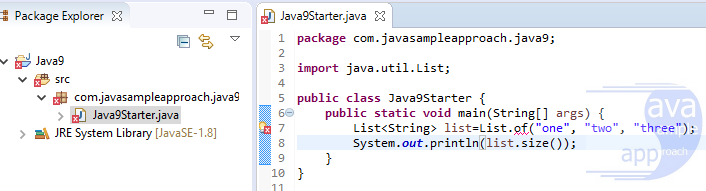 java 9 starter - syntax error