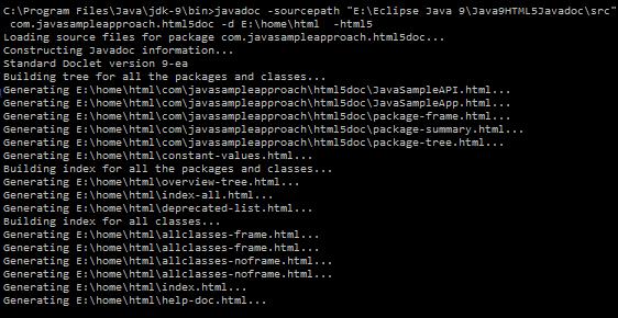html5-javadoc-generate