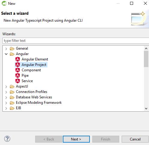 Springtoolsuite - create angular project