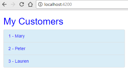 angular http client - customer list