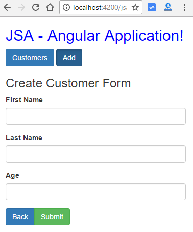 angular http client post put deletet - add customer form