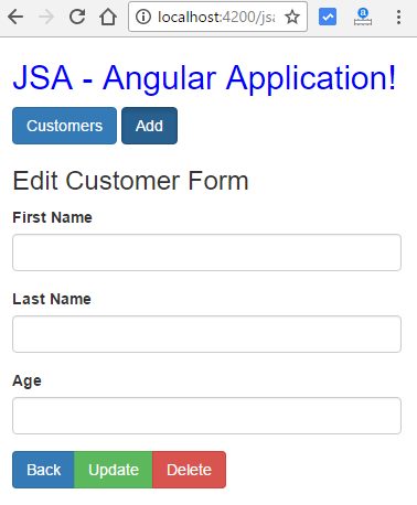 angular http client post put deletet - edit customer form