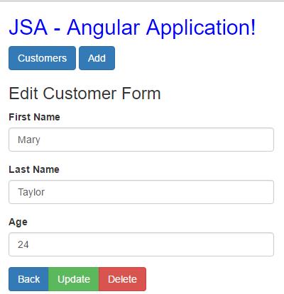 angular http client post put deletet - update - delete button