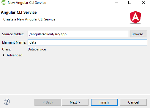 angular service - named