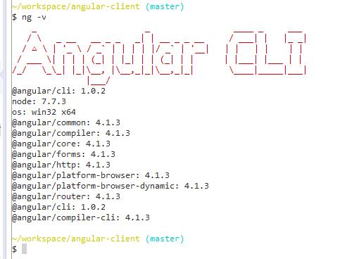 angular version