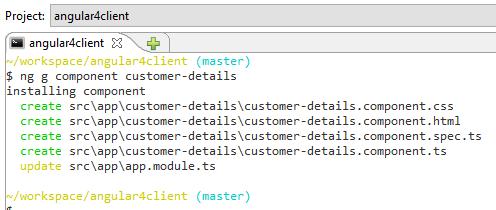angular4 component - create new angular component - done
