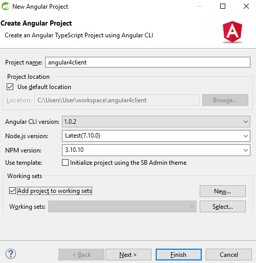 angular4-create project