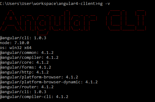 angular4 - springboot springtoolsuite - install Angular4-client - version