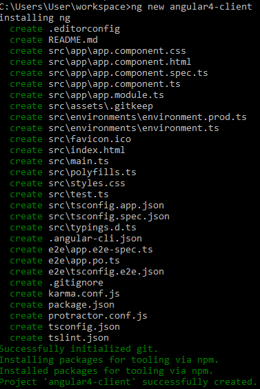 angular4 - springboot springtoolsuite - install Angular4-client