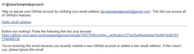 github - verify email
