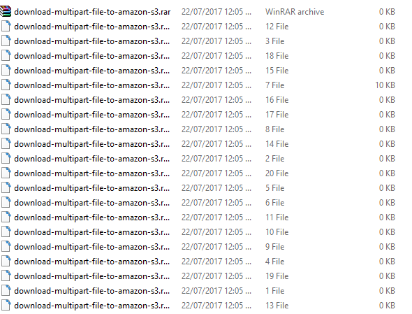 SpringBoot Amazon S3 MultipartFile - upload-download - result download file in progress