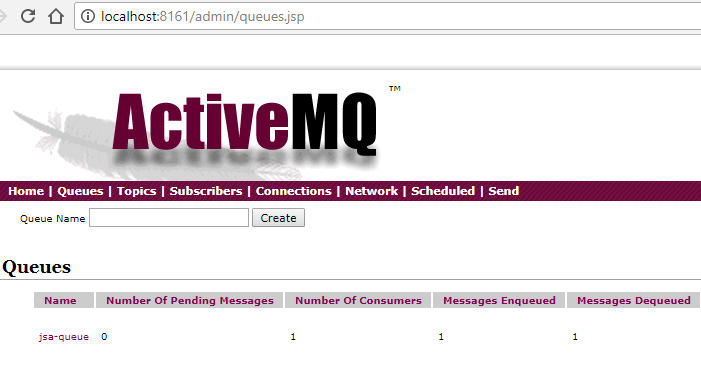 spring activemq java object message - activemq log