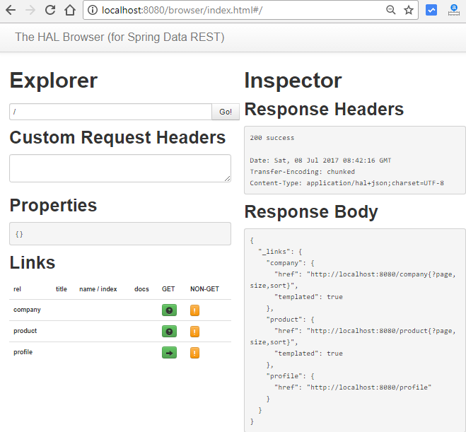 spring data rest - jpa one-to-many entities - first request