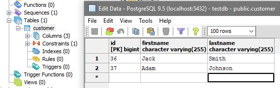 angular-4-spring-jpa-postgresql-result-db-after-delete-customer