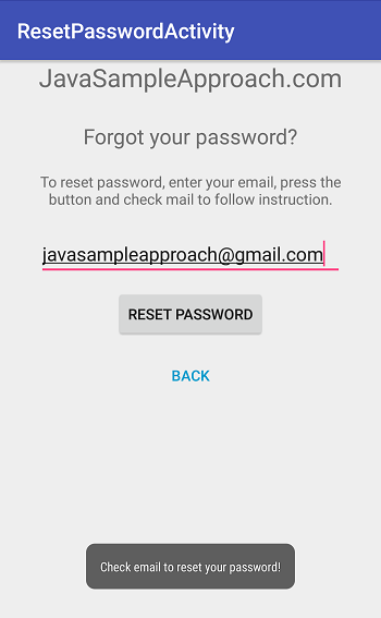 Firebase Authentication - Send Reset Password Email / Forgot
