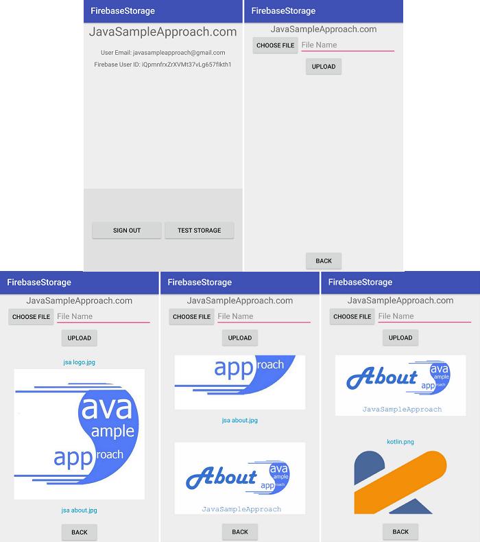 firebase-storage-display-list-demo-app-result