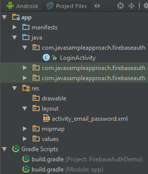 firebaseauth-email-password-structure