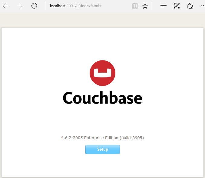 install couchebase server - web setup