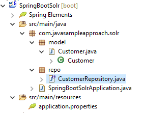 spring data solr - springboot - project structure