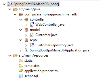 MariaDB - How to use Spring JPA MariaDB by Spring Boot