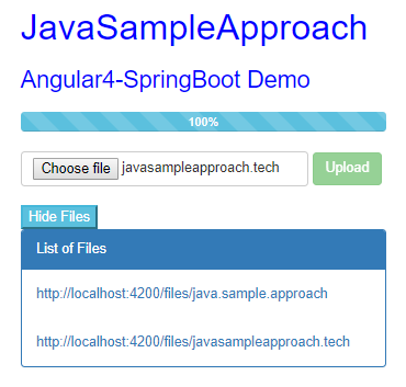 Angular 4 - Upload/Get MultipartFile to/from Spring Boot