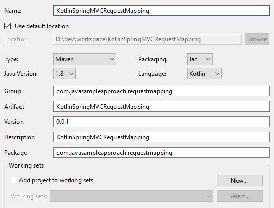kotlin springmvc requestmapping - create kotlin project