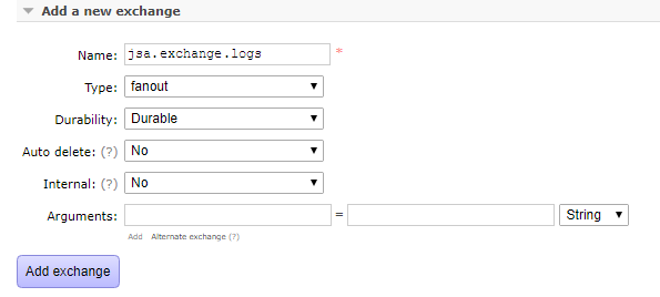 springboot rabbitmq durable queue - create exchange