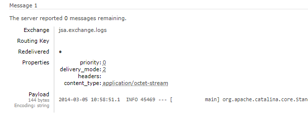 springboot rabbitmq exchage headers - remain 1 message