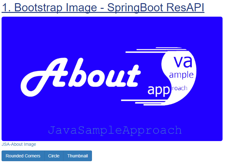 Bootstrap Image - SpringBoot RestApi - rounded corners