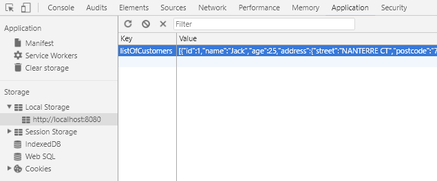 HTML 5 - Web LocalStorage - Using JQuery to Cache data from SpringBoot RestAPIs - record cache data at local storage