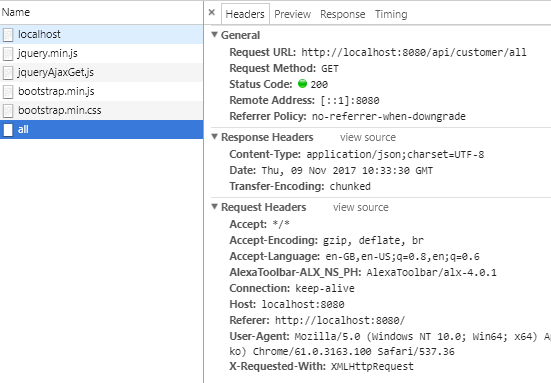 HTML 5 - Web LocalStorage - Using JQuery to Cache data from SpringBoot RestAPIs - record first request