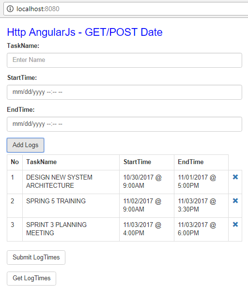 Html5 DateTime + AngularJs + SpringBoot @JsonFormat - add input data