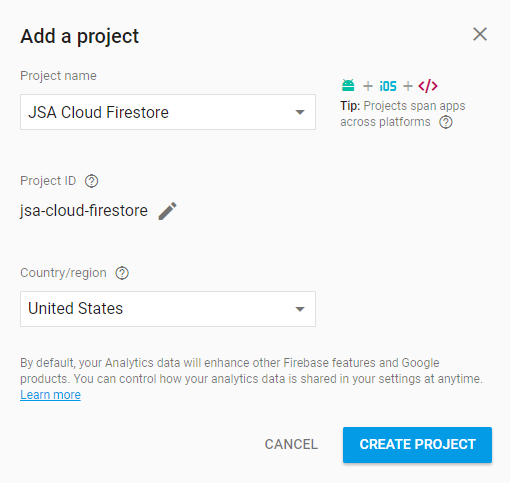 cloud-firestore-console-add-project