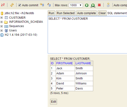 kotlin h2 springboot jpa - architecture - h2-database-customer-after-restart