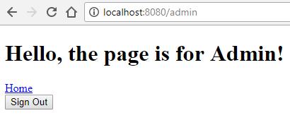 kotlin spring security - admin page