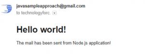 Nodejs - sending mail with Nodemailer