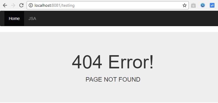nodejs-express bootstrap - 404 error page
