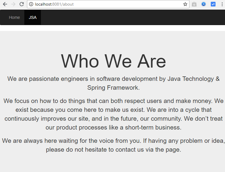 nodejs-express bootstrap - about page