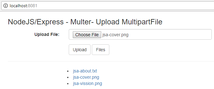 NodeJS-Express-Multer-Upload-MultipartFile-Ajax-Jquery-Bootstrap-list all files