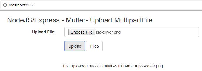 NodeJS-Express-Multer-Upload-MultipartFile-Ajax-Jquery-Bootstrap-uploadfile