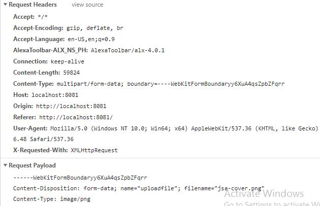 NodeJS-Express-Multer-Upload-MultipartFile-Ajax-Jquery-Bootstrap-uploadfile-request