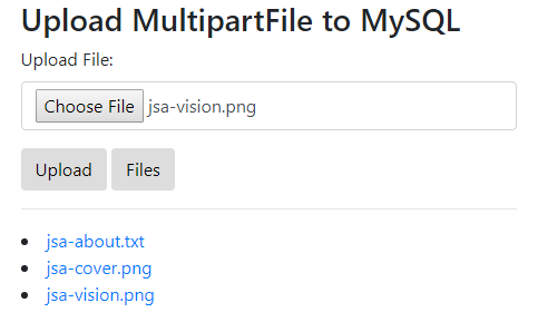 SpringJPA-Upload-Download-MultipartFile-to-PostgreSQL-retrieve-all-files