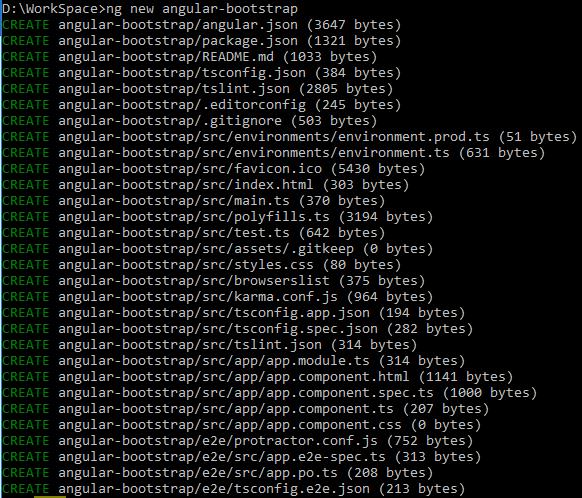 Angular-6-Bootstrap + Create-Angular-Project