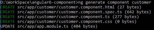 angular-6-component + generate-new-angular-component