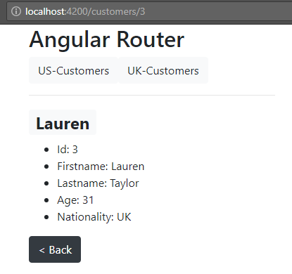 angular-6-routing + a-customer-view-routing